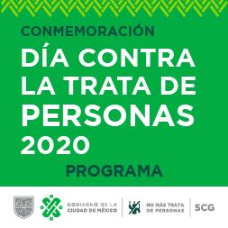 Imagen con texto: Día contra la trata de personas 2020
